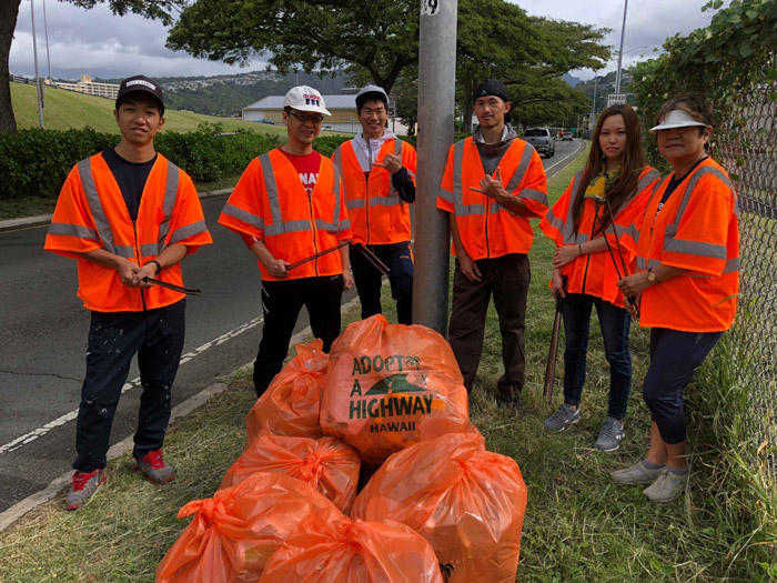 Adopt-A-Highway safety volunteers