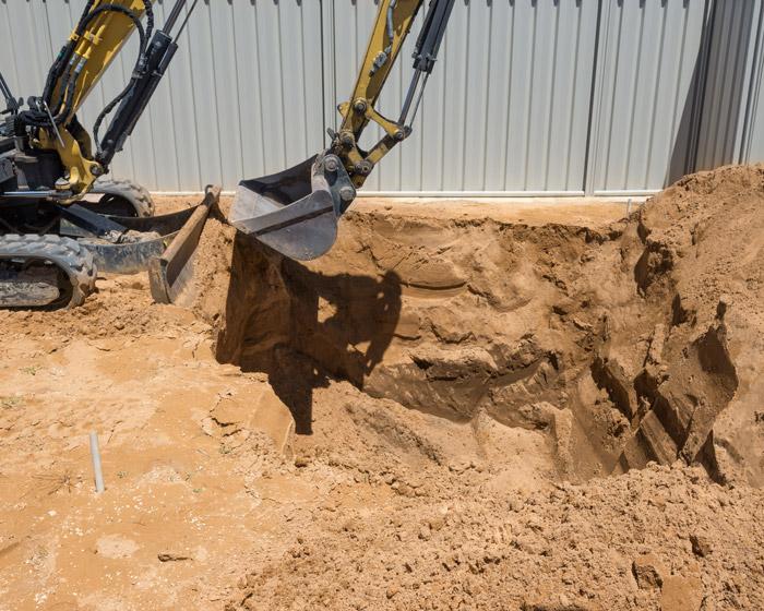 Reduce excavated dirt